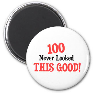 100 never looked this good! 2 inch round magnet
