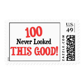 100 never looked this good! stamp