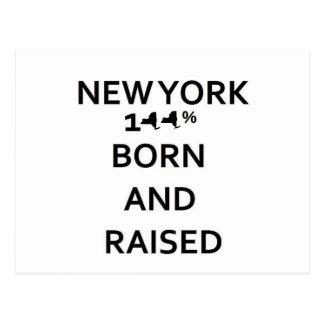 100% New York Born and Raised Post Card