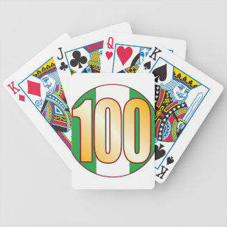 100 NIGERIA Gold Bicycle Playing Cards