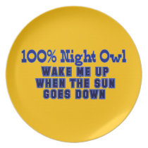 100% Night Owl Dinner Plate