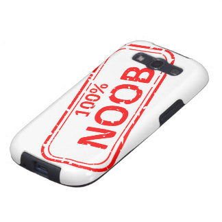 100% Noob Rubber-stamp Galaxy SIII Cases