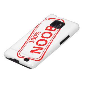 100% Noob Rubber-stamp Galaxy SII Cover