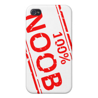 100% Noob Rubber-stamp Cover For iPhone 4