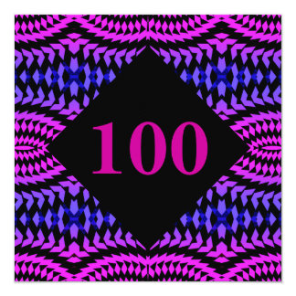 100 - Numbers Party Invitation