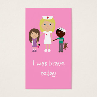 100 Nurse, Children & Teddy Bear Bravery Bookmarks Business Card