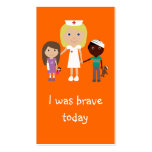 100 Nurse, Children & Teddy Bear Bravery Bookmarks Business Card Template
