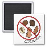 100% Nut Free (Tree nuts & Peanuts) Fridge Magnet