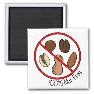 100% Nut Free (Tree nuts & Peanuts) Magnet