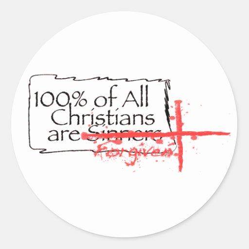 100% of Christians Classic Round Sticker