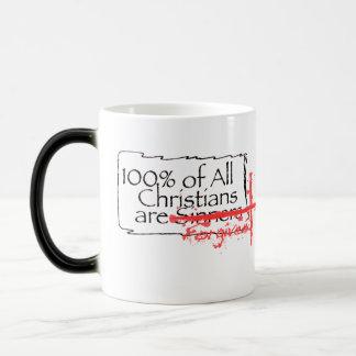 100% of Christians 11 Oz Magic Heat Color-Changing Coffee Mug