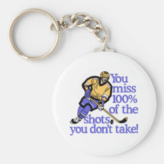 100% Of The Shots Basic Round Button Keychain