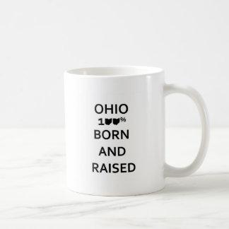 100% Ohio Born and Raised Coffee Mug