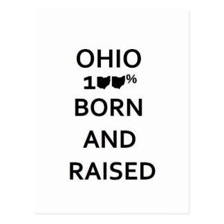 100% Ohio Born and Raised Postcard