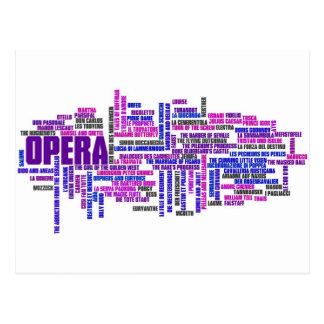 100 óperas más grandes postales