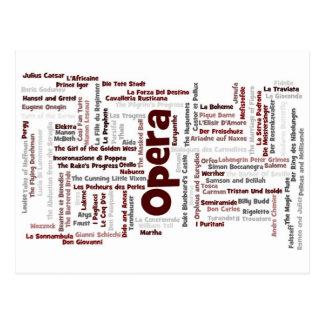 100 óperas más grandes tarjetas postales