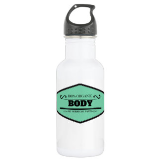 100% Organic Body light blue and black Stainless Steel Water Bottle