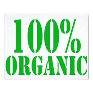 100% Organic Card
