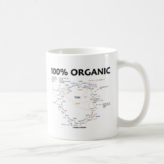 100% Organic (Citric Acid Cycle - Krebs Cycle) Coffee Mug