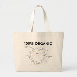100% Organic (Citric Acid Cycle - Krebs Cycle) Large Tote Bag