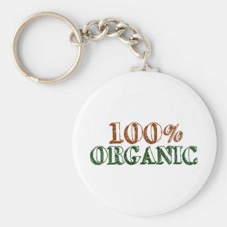 100% Organic Keychain