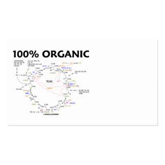 100% Organic (Krebs Cycle - Citric Acid Cycle) Business Card