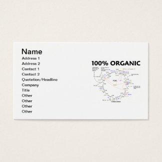 100% Organic (Krebs Cycle Humor) Business Card