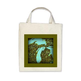 100% Organic Michigan Shopping Bag