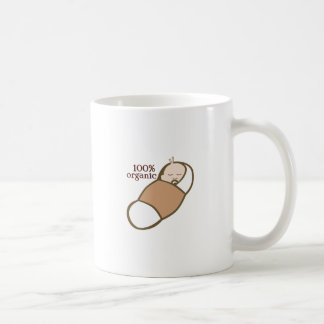 100% Organic Classic White Coffee Mug
