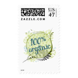 100% Organic Postage Stamps