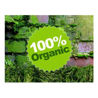 100 Organic Postcard