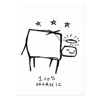 100% organic postcard