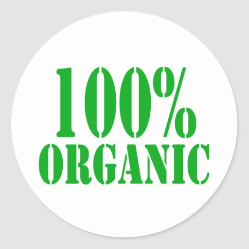 100% Organic Round Stickers