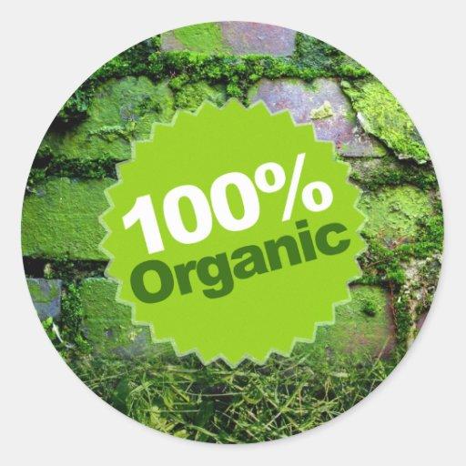 100% Organic Stickers