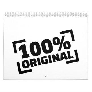 100% Original Calendar