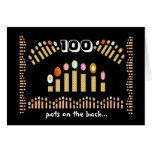 100 Pats on the Back - Happy 100th Birthday! Greeting Card