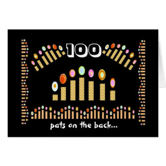 100 Pats on the Back - Happy 100th Birthday! Card