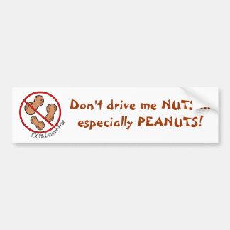 100% Peanut Free Bumper Sticker