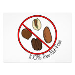 100% Peanut Free Personalized Announcement