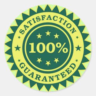 100% pegatina garantizado satisfacción