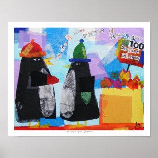 100 Penguin Mittens Poster
