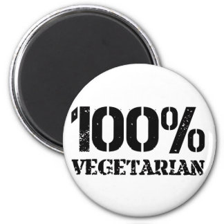 100 Per Cent Vegetarian 2 Inch Round Magnet