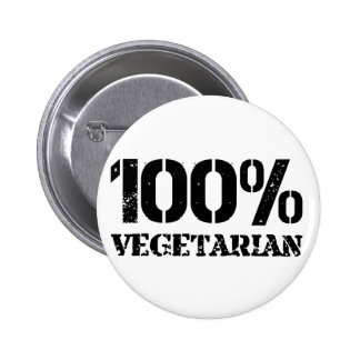 100 Per Cent Vegetarian Button