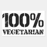 100 Per Cent Vegetarian Rectangle Sticker