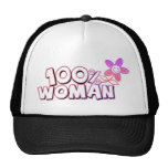 100 per cent woman trucker hat