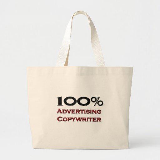 100 Percent Advertising Copywriter Jumbo Tote Bag