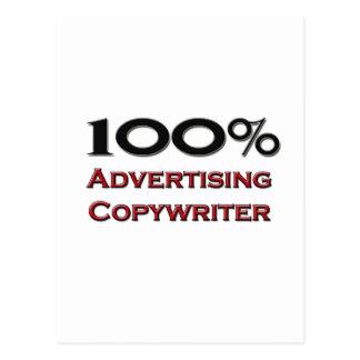 100 Percent Advertising Copywriter Post Cards
