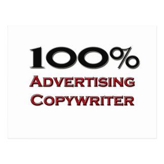 100 Percent Advertising Copywriter Post Card