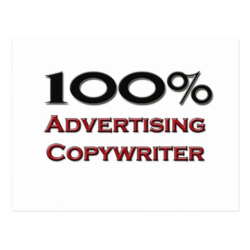 100 Percent Advertising Copywriter Postcard