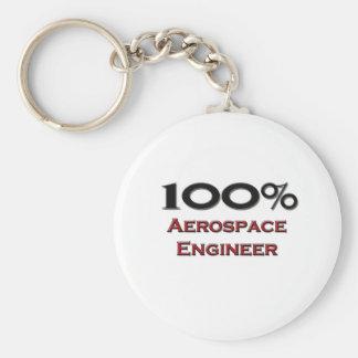 100 Percent Aerospace Engineer Basic Round Button Keychain